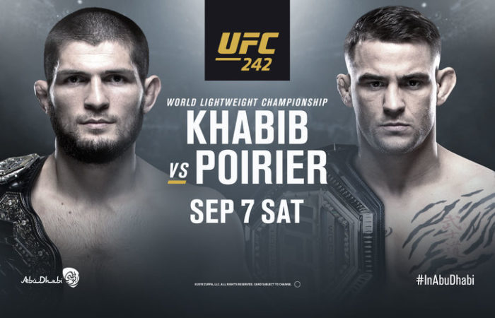 Poster for UFC 242